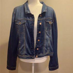 🌞 Kenzie Jeans denim jacket pockets size L